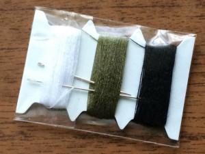 Хозпакет ВС в индивидуальной упаковке (2 иглы, нитки — 3 цвета по 5 м)
