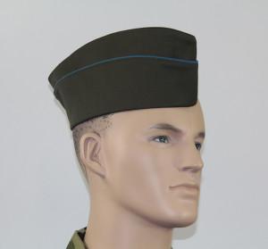 Пилотка ВДВ оливковая(с голубым кантом)
