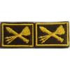 Нашивки вышит. ПВО (нов/обр, желт.) петличные эмблемы на липучке
