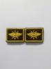 Нашивки вышит. Войска связи (нов/обр, желт.) петличные эмблемы на липучке
