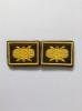 Нашивки вышит. Войска РТВ ВВС (нов/обр., желт.) петличные эмблемы на липучке