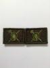 Нашивки вышит. Военная полиция (нов/обр, оливк.) петличные эмблемы на липучке