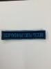 Нашивка на грудь вышит. Вооруженные силы России (125х25 мм) синий фон (на липучке), буквы голубые