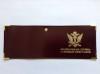 Обложка кожаная с мет. уголками и отв. д/цеп. на сгибе Федеральная Служба Судебных Приставов