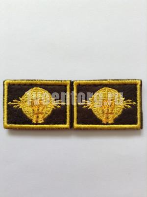 Нашивки вышит. РЭБ (желт.) петличные эмблемы на липучке