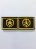 Нашивки вышит. Трубопроводные войска (желт.) петличные эмблемы на липучке