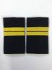 Ф/пог. Полиция темно-синие (ткань п/э) вышит. желт. (младший сержант)