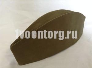 Пилотка ВС (цвет ХАКИ) ткань палаточная упрощенная