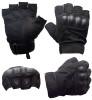 Перчатки с обр/пал с защитными накладками (черные) Oakley